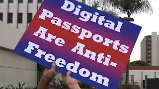 Protest Against Digital Vaccination Passports