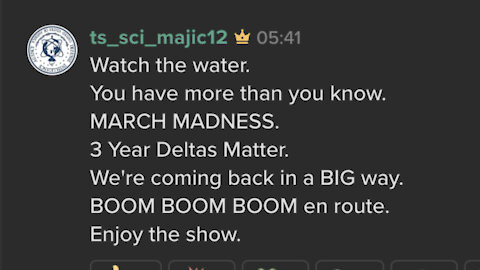 🗝 'We're coming back in a BIG way.' 🆕 Majestic 12 Keybase post @ts_sci_majic12 'Enjoy the show.' 🍿