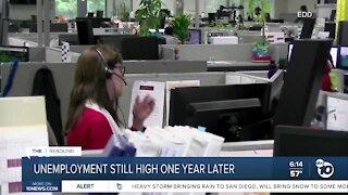 California unemployment still high one year since pandemic began