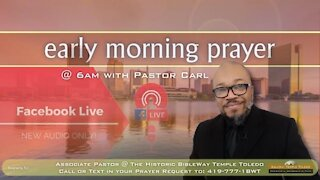 Early morning prayer with Pastor Carl