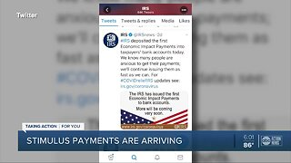 Stimulus payments arriving for some