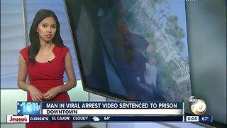 Man in viral arrest video sentenced to prison