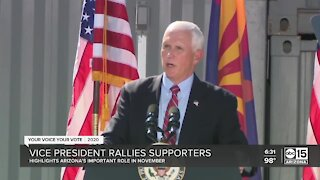 Vice President Mike Pence rallies supporters