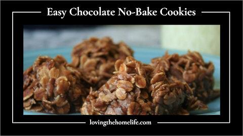 Easy Chocolate No-Bake Cookies