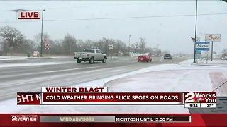 Slick roads heading into Arkansas