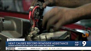 Heat increases demand for roadside service