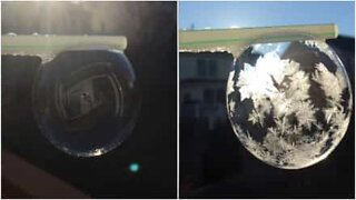 From soap bubble to ice balloon