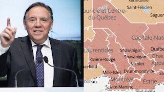 Tout le Québec va passer en zone orange, sauf ces 5 régions