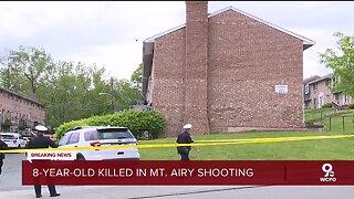 Eight-year-old child died Sunday from gunshot wound