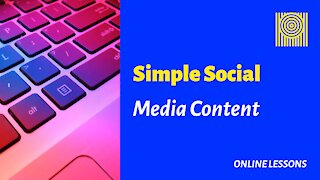 Simple Social Media Content