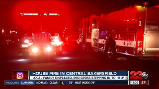 Family displaced by Central Bakersfield house fire