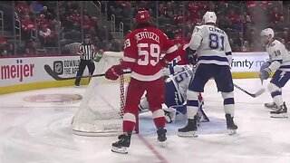 Red Wings top line heating up to end season
