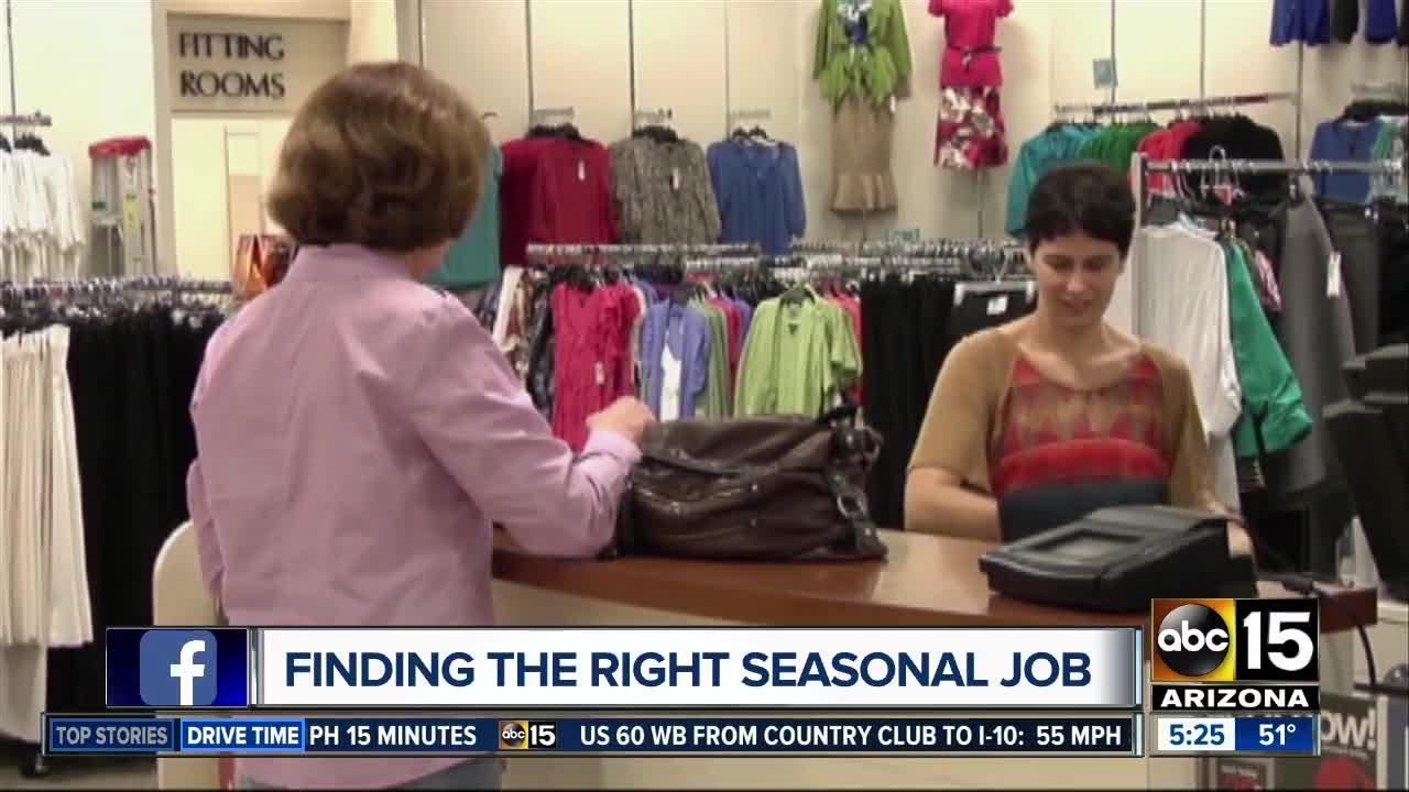 Finding the right seasonal job