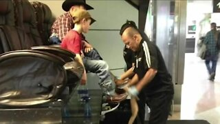 Love and shine: DIA's shoe shine stand back open after COVID-19 closure