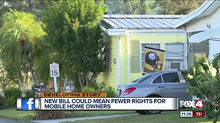 FL Senate bill could mean big changes for mobile home owners