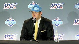 """T.J. Hockenson calls Lions QB Matthew Stafford """"a great quarterback"""""""
