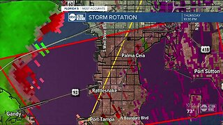 Severe weather in Tampa Bay area counties
