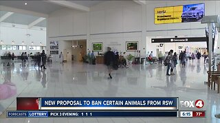Lee County discussing allowing only service animals in airport