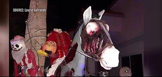 Halloween decorations in Las Vegas