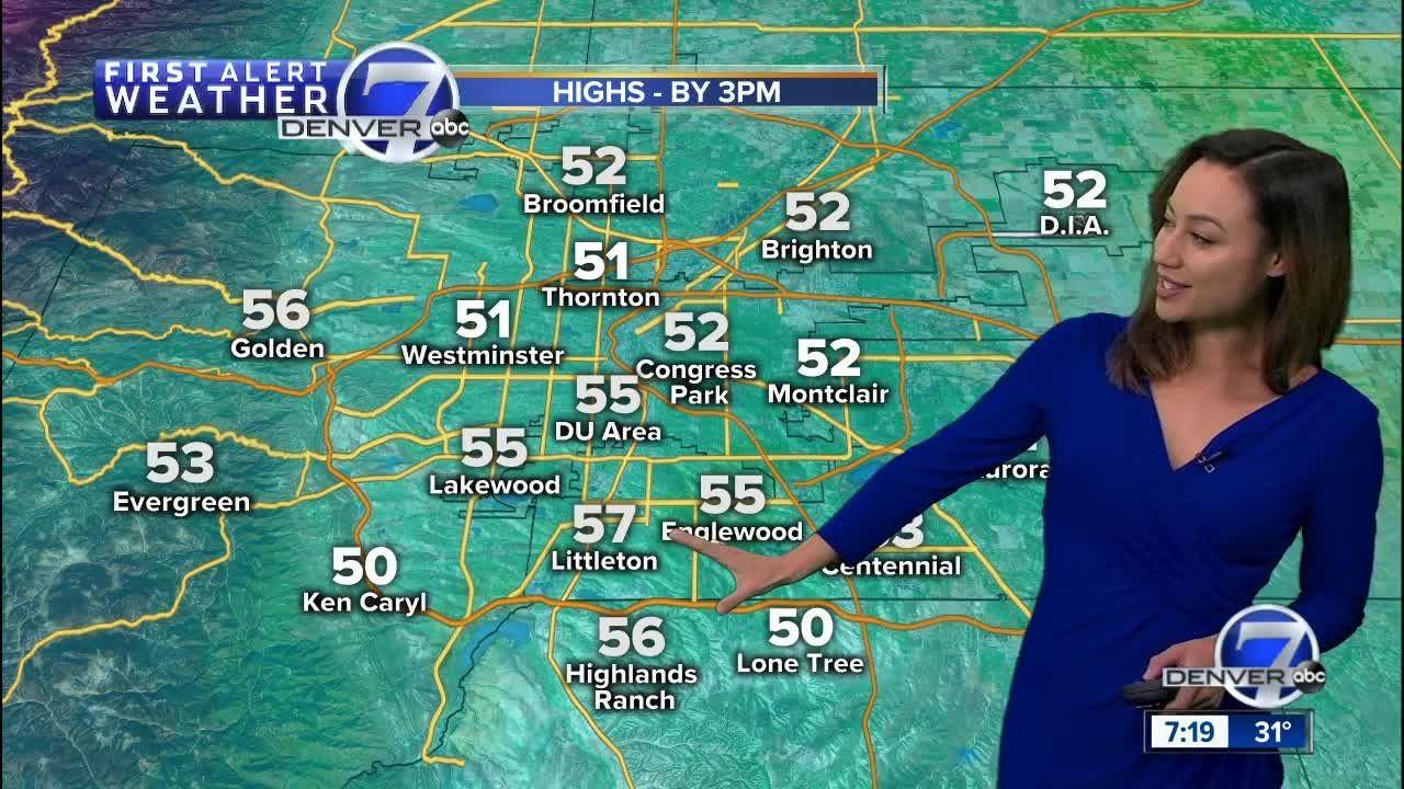 Increasing clouds and milder temps Sunday