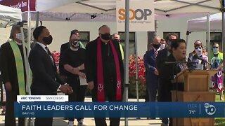 Faith leaders call for change