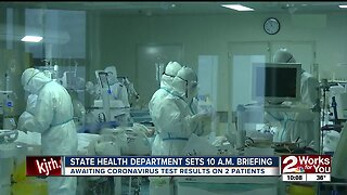 State health department awaiting coronavirus test results on 2 patients