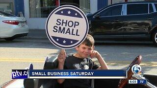 "Small businesses participate in ""Small Business Saturday"""