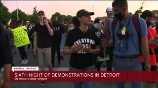 6th night of demonstrations in Detroit