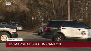 U.S. Marshal shot while serving warrant to suspect in Canton; suspect also shot