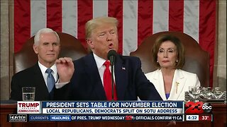 Local Republicans and Democrats split on the State of the Union Address