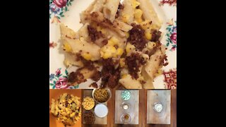 Spiced Up Antique Vegetarian Recipe: Curried Macaroni and Corn (1910)