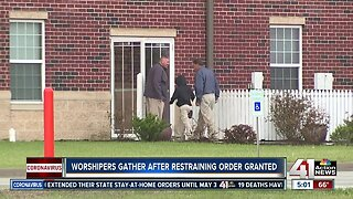 Worshippers gather after restraining order granted