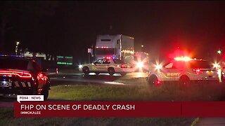 Florida Highway Patrol on scene of deadly crash