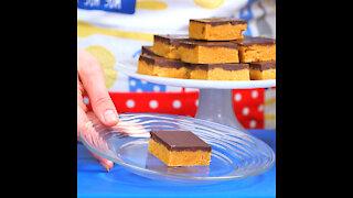 No Bake Peanut Butter Chocolate Bars [GMG Originals]