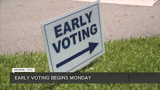 Early voting begins Monday for 2020 election