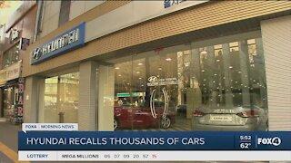 Hyundai recalls thousands of cars