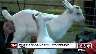 Goat Yoga Helping Flood Victims