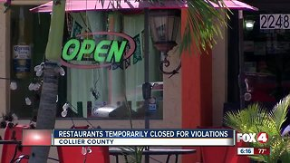 Three Naples-area restaurants forced to temporarily close in January for roaches, other violations