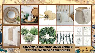 The Teelie Blog | Spring/Summer 2021 Home Trend: Natural Materials | Teelie Turner