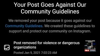 BANNED FROM INSTAGRAM