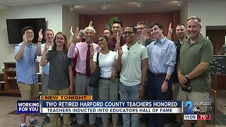 Two retired Harford County Teachers inducted into HCPS Educator Hall of Fame