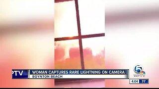 Woman captures lightning on video in Boynton Beach