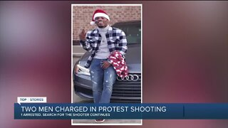1 arrested, 1 still on the run in fatal shooting near downtown Detroit protest