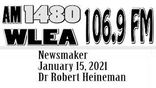 Wlea Newsmaker, January 15, 2021, Dr Robert Heineman