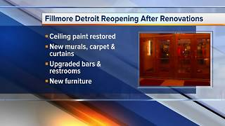 Fillmore Detroit to reopen after renovations