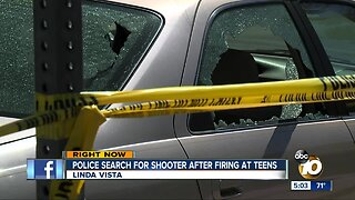 Police search for shooter after firing at teens