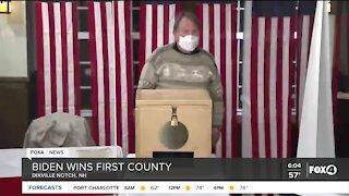 Joe Biden wins first county