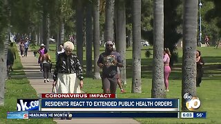 Residents react to extended public health orders