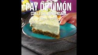 Lemon pie with condensed milk