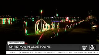 Holiday lights and music show in Olde Towne Bellevue